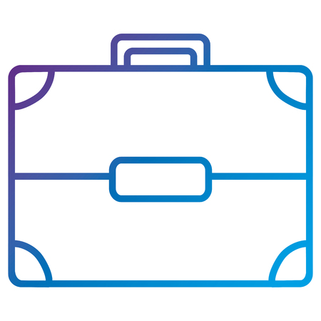 Portfolio briefcase flat icon icon vector illustration design