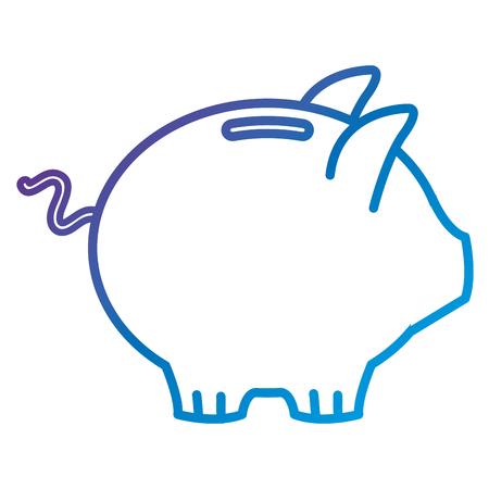 ピギー貯蓄フラットアイコンベクトルイラストデザイン