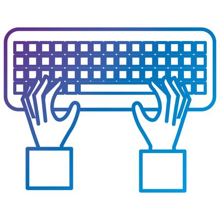 キーボードフラットアイコンベクトルイラストデザインのハンズユーザー  イラスト・ベクター素材