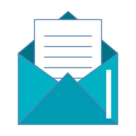 Mail envelope flat icon vector illustration design Illustration