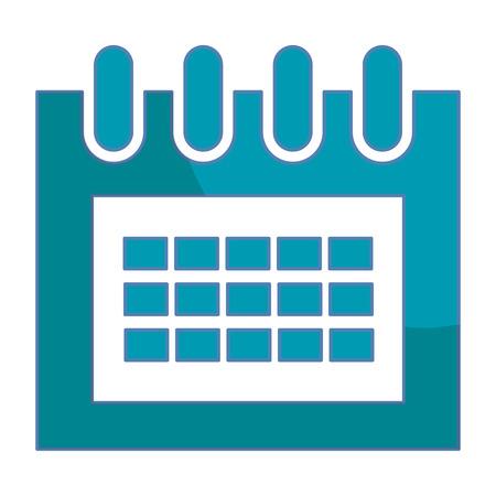 Kalender geïsoleerd pictogram vectorillustratieontwerp