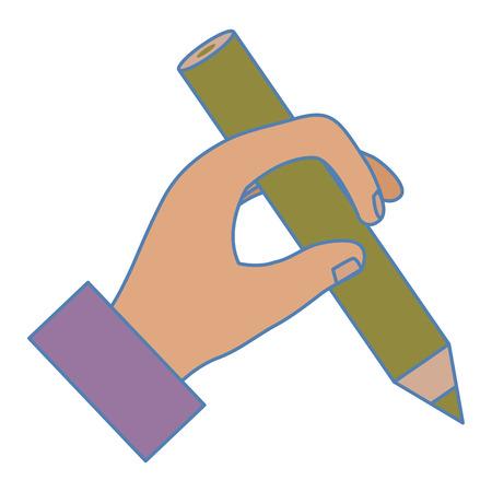 Human hand writing icon vector illustration design