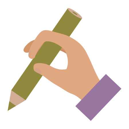 Human hand with pencil icon vector illustration design