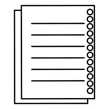 sheet of notebook icon vector illustration design Imagens - 90396229
