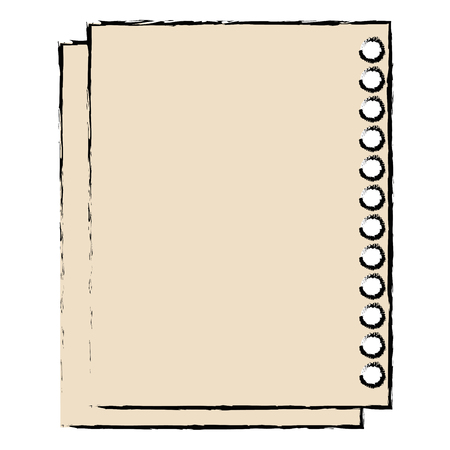sheet of notebook icon vector illustration design