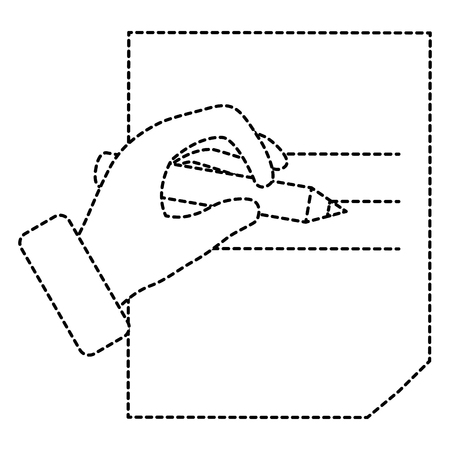 hand human writing icon vector illustration design Illustration
