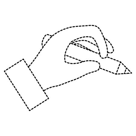 hand menselijk schrijven pictogram vector illustratie ontwerp