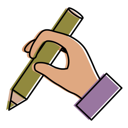 hand human writing icon vector illustration design Ilustração