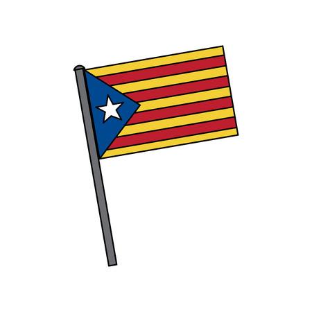 catalunya flag icon image vector illustration design