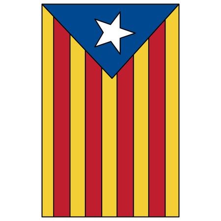 ícone da bandeira de catalunya imagem design de ilustração vetorial Ilustración de vector