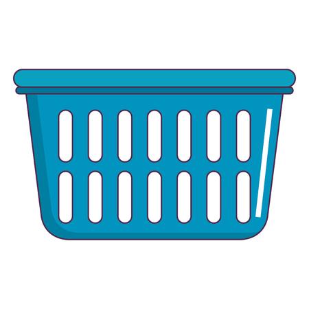 plastic basket laundry icon vector illustration design