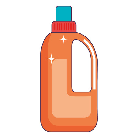 bottle laundry product icon vector illustration design