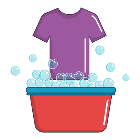 laundry pot with shirt vector illustration design
