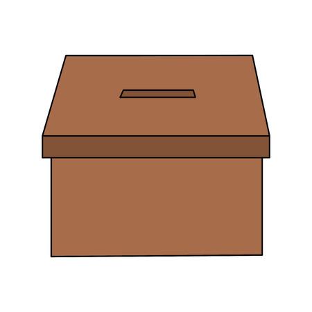 투표 상자 투표 아이콘 이미지 벡터 일러스트 디자인