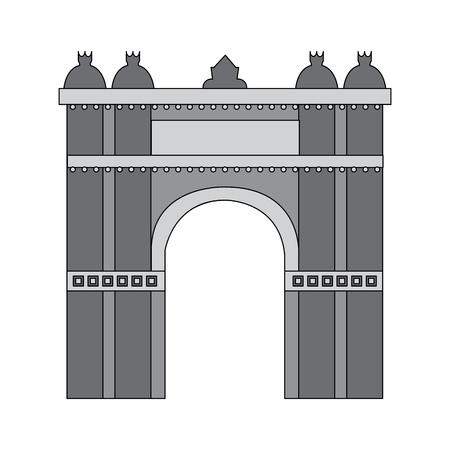 castle building icon image vector illustration design  grey color