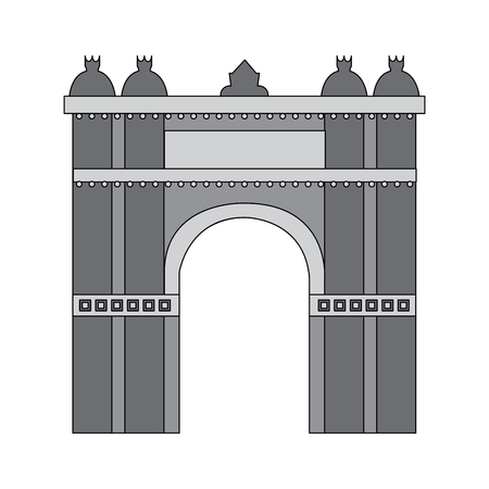 castle building icon image vector illustration design  grey color