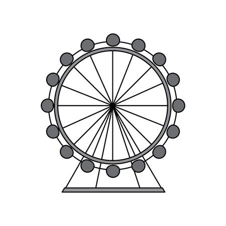 reuzenrad pictogram afbeelding vector illustratie ontwerp grijze kleur Stock Illustratie