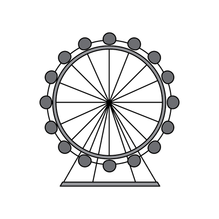 ferris wheel icon image vector illustration design  grey color