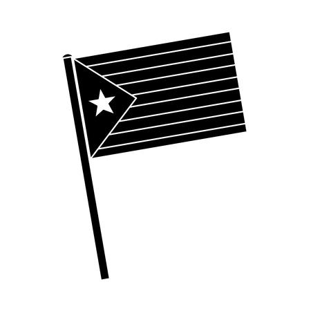 catalunya flag icon image vector illustration design  black and white