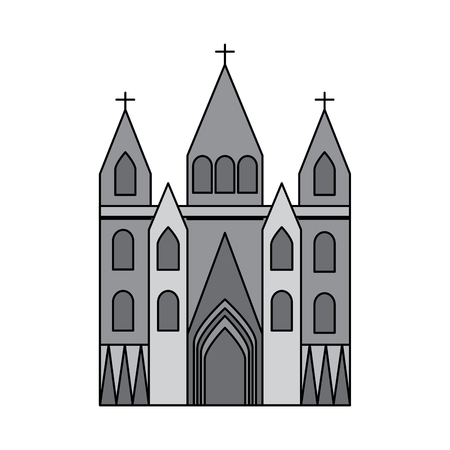 church cathedral icon image vector illustration design  grey color