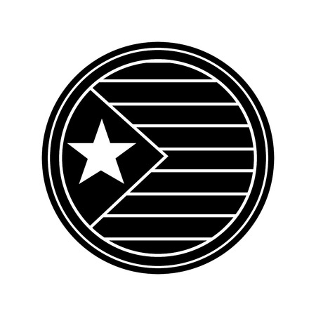 flag with star and stripes icon image vector illustration design  black and white Illustration