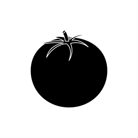 tomato vegetable icon image vector illustration design  black and white