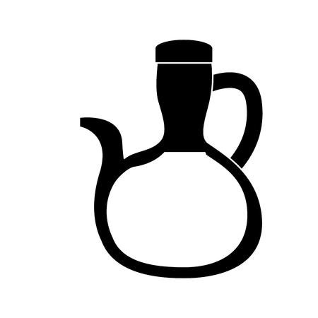 olive oil bottle icon image vector illustration design  black and white