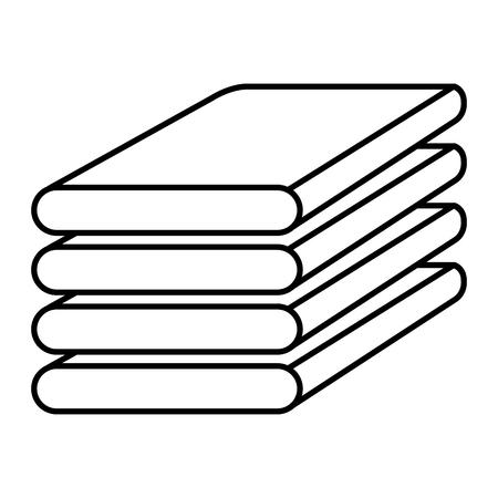 折りたたまれた服ベクトルイラストデザインの山  イラスト・ベクター素材