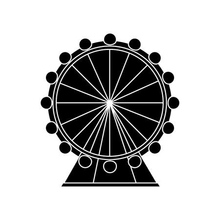 reuzenrad pictogram afbeelding vector illustratie ontwerp zwart en wit
