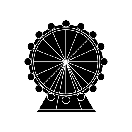 ferris wheel icon image vector illustration design  black and white Illustration