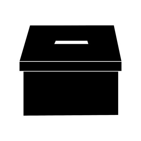 voting box vote icon image vector illustration design  black and white