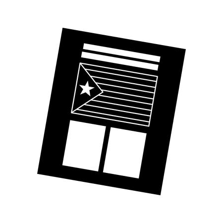 Bandeira de catalunya independência ícone de voto imagem ilustração vetorial design preto e branco Foto de archivo - 90401345