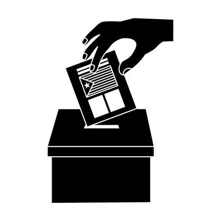 catalunya flag independence vote icon image vector illustration design  black and white