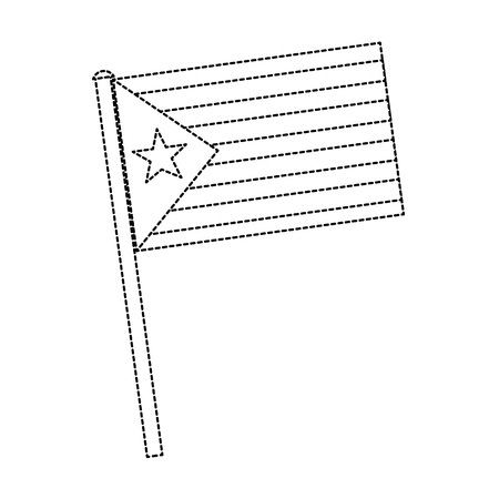 catalunya flag icon image vector illustration design  black dotted line