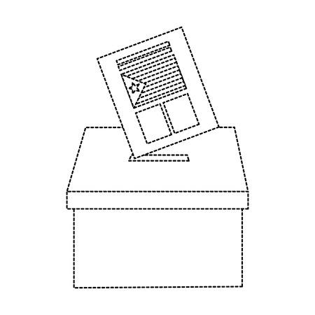 Cataluña, bandera, independencia, voto, icono, imagen, vector, ilustración, diseño, negro, punteado, línea Foto de archivo - 90401385