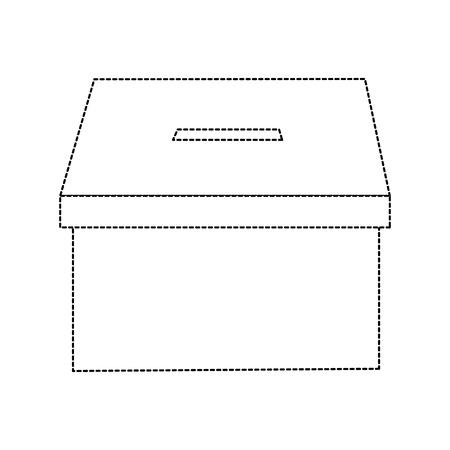 ボックス投票アイコン画像ベクトル イラスト デザインの黒い点線の投票