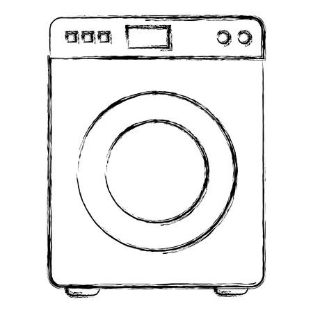 洗濯機の機械隔離アイコンベクトルイラストデザイン