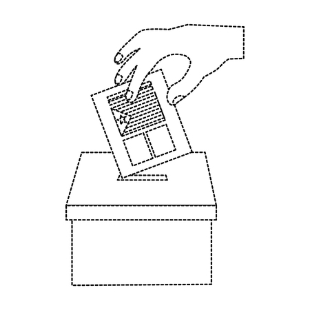 catalunya flag independence vote icon image vector illustration design  black dotted line