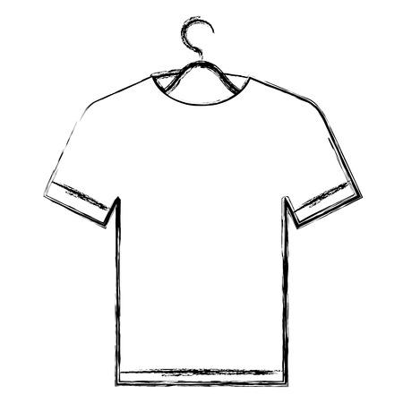shirt hanging in hook vector illustration design