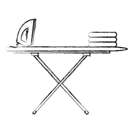 strijkplank met kleding en ijzer vector illustratie ontwerp