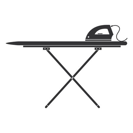 ironing board with iron vector illustration design