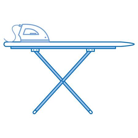 철 벡터 일러스트 디자인과 다림질 보드