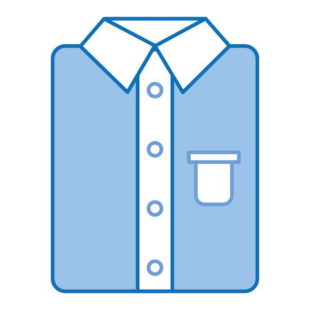ironed shirt isolated icon vector illustration design