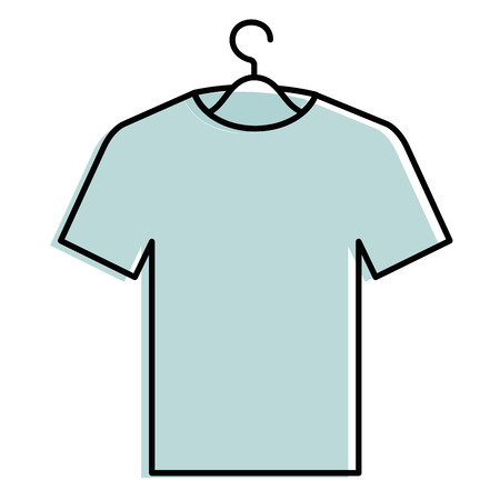 shirt hanging in hook vector illustration design