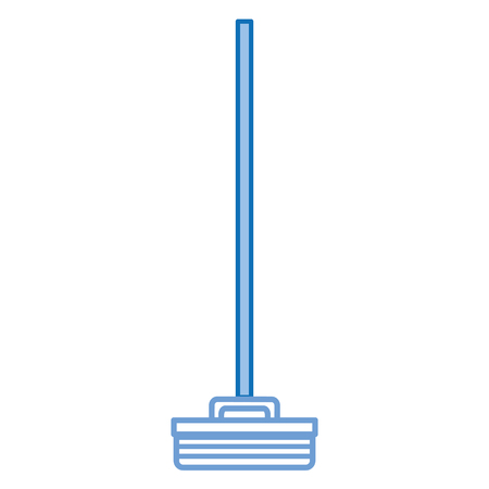 broom cleaning isolated icon vector illustration design