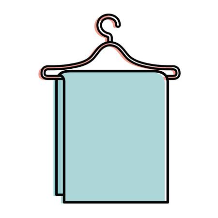 towel hanging in wire hook vector illustration design Reklamní fotografie - 90402706