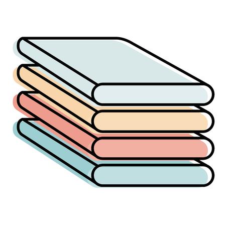 pile of folded clothes vector illustration design Ilustração