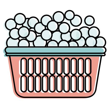 Wasserijpot met ontwerp van de schuim het vectorillustratie Stock Illustratie