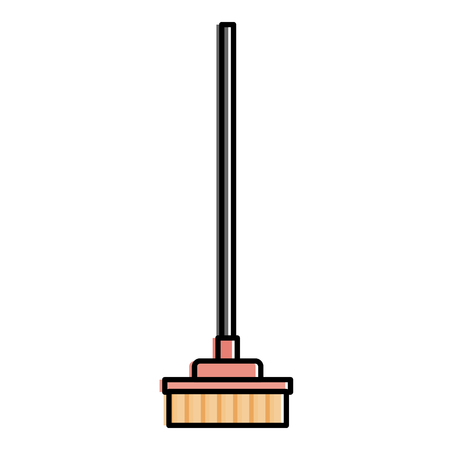 broom cleaning isolated icon vector illustration design Stock Vector - 90403077