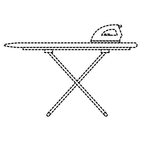 Strijkplank met ijzer vector illustratie ontwerp